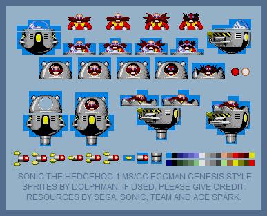 Sth1 Dr Eggman Robotnik 8 Bit Genesis Style By Retrobunyip