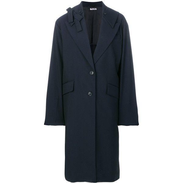 Miu Miu long buttoned coat Discount Shopping Online 2x6xyL0