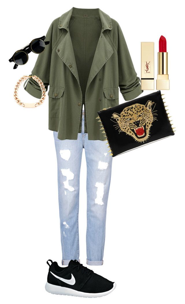 """""""Sans titre #1"""" by celinarosa-g ❤ liked on Polyvore featuring Paige Denim, PUR and NIKE"""