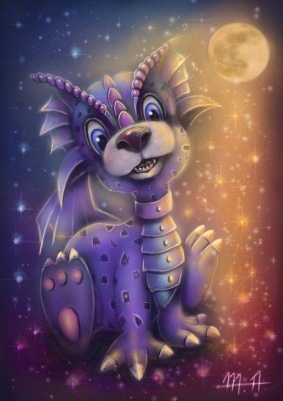 Cute Dragon Fantasy Art