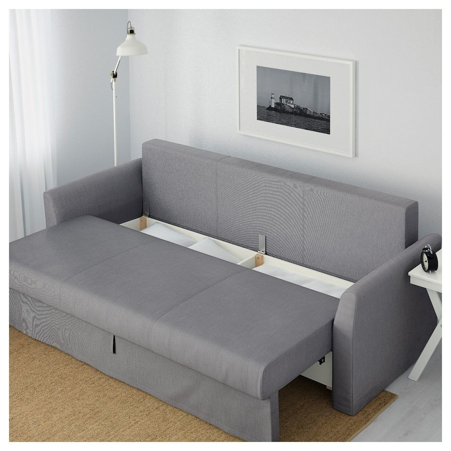 Ikea Holmsund Nordvalla Medium Gray Sleeper Sofa In 2020 Ikea