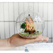 My Little Magic House DIY Handcraft Miniature Glass Ball Series LED Lights Dolls House,  #Bal..., ,  #Bal #Ball #DIY #dolls #Glass #handcraft #handcraftsdecoration #House #LED #lights #magic #Miniature #Series