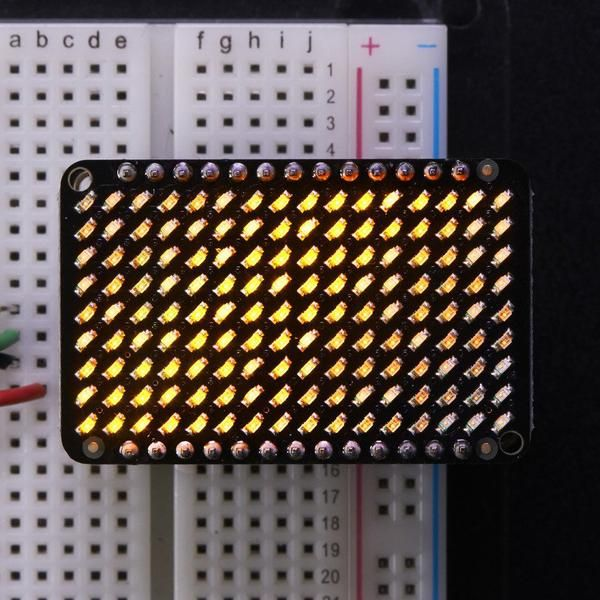 Red Adafruit LED Charlieplexed Matrix - 9x16 LEDs in 2019 | Lights