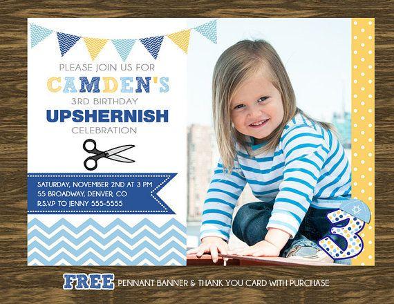 Upshernish Birthday Invitation Printable Free Pennant Banner And