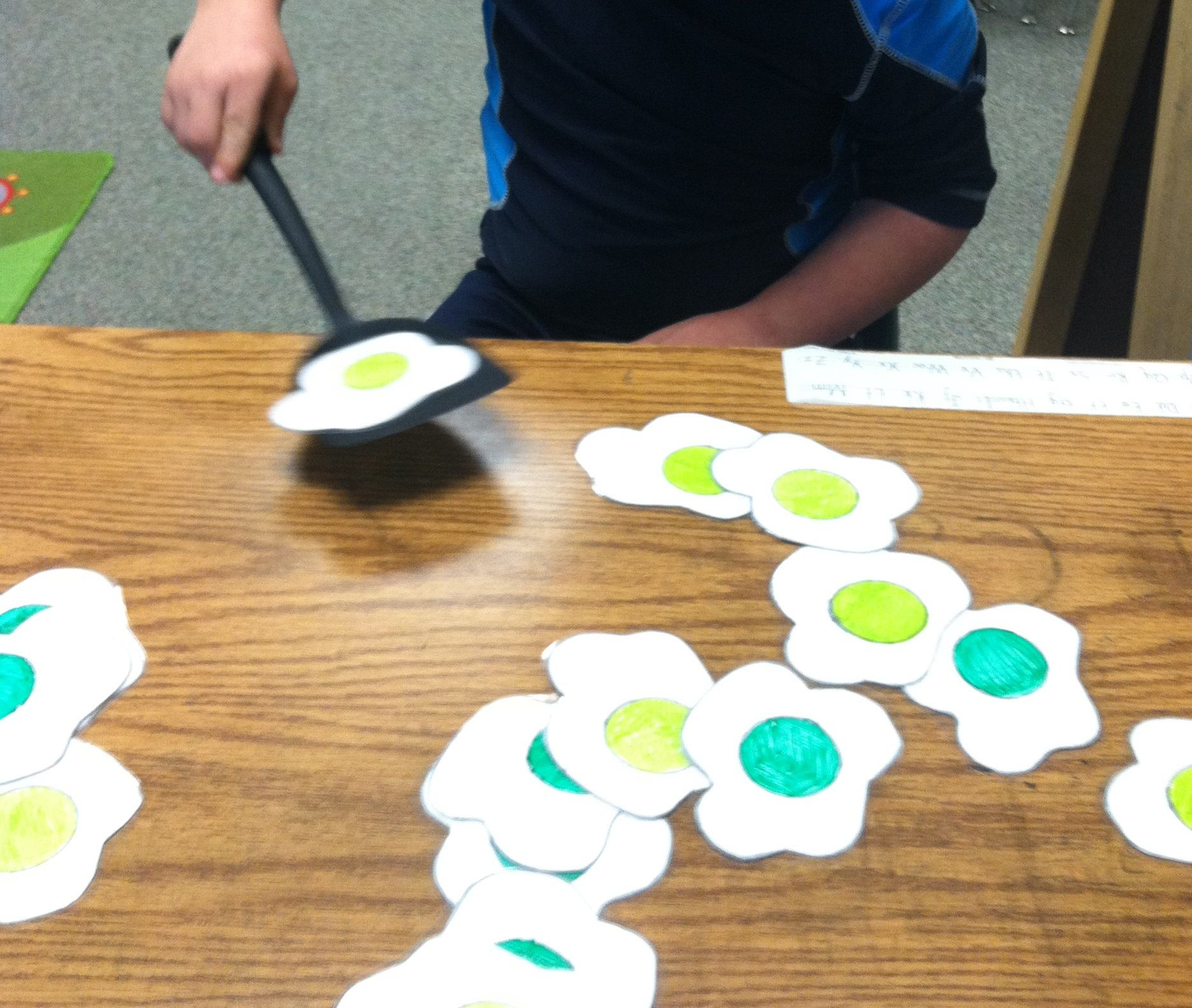 Green Egg Flip Write Letters Numbers Sightwords Etc On Back And Have Students Flip Them To