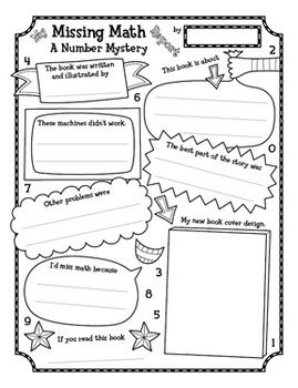 Free Missing Math Book Report Poster Activity  LoreenS