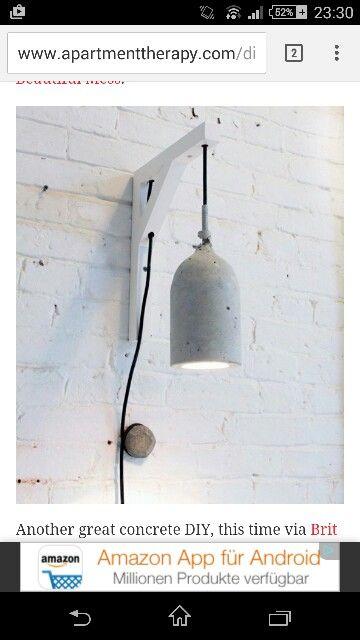 Coole lampe, evtl mit glas Flasche als lampen schirm?