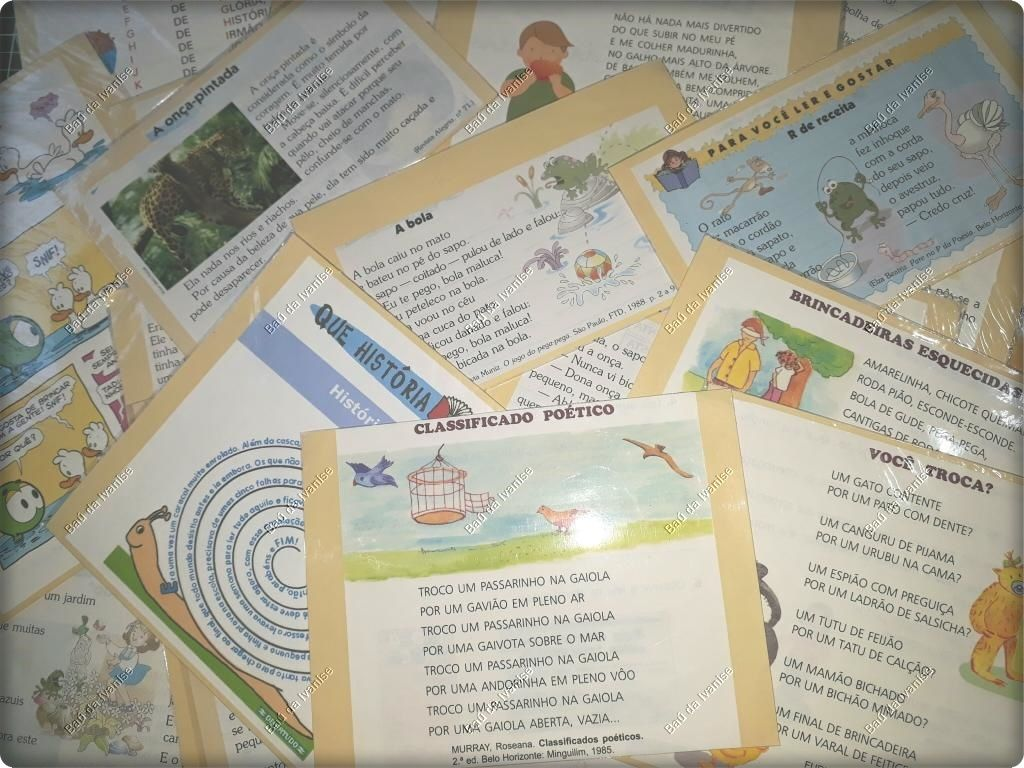 Bau De Ideias Linguagem 55 Tipos De Textos Caixa Projetos