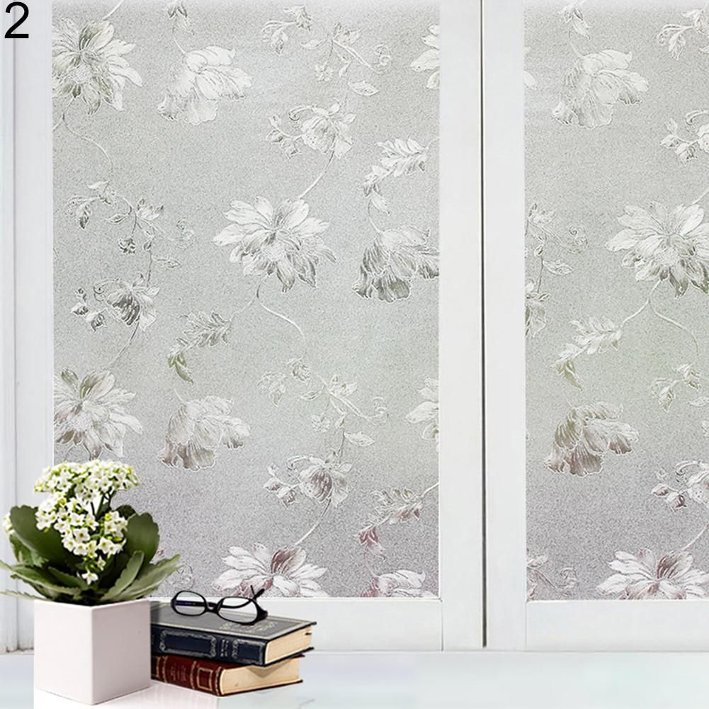 Photo of Decorative Privacy Frosted Window Glass Film Sticker Home Bathroom Waterproof – as the picture t
