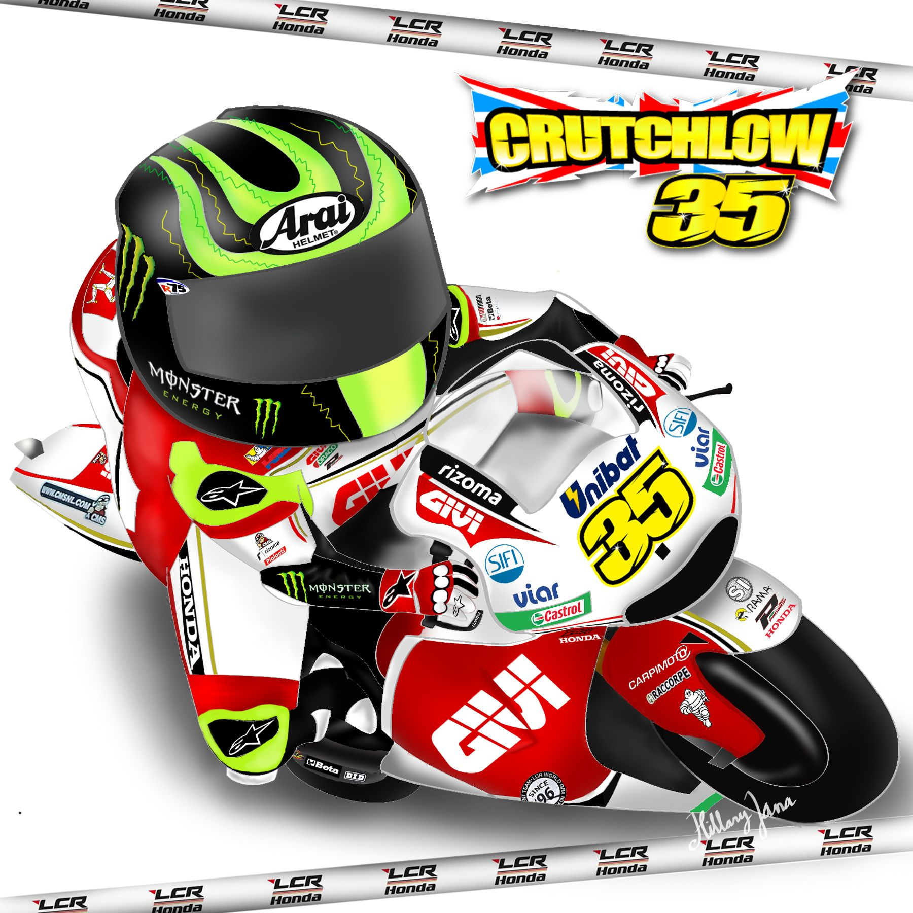 My latest work ;) Cal Crutchlow is my most favorite rider, and also LCR Honda is my most favorite team! Best combination ever!