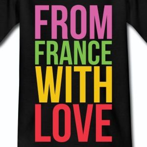 T shirt noir enfant from france with love - Tee shirt Enfant