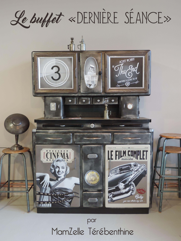 Buffet mado Meuble vintage années 50 fifties MamZelle
