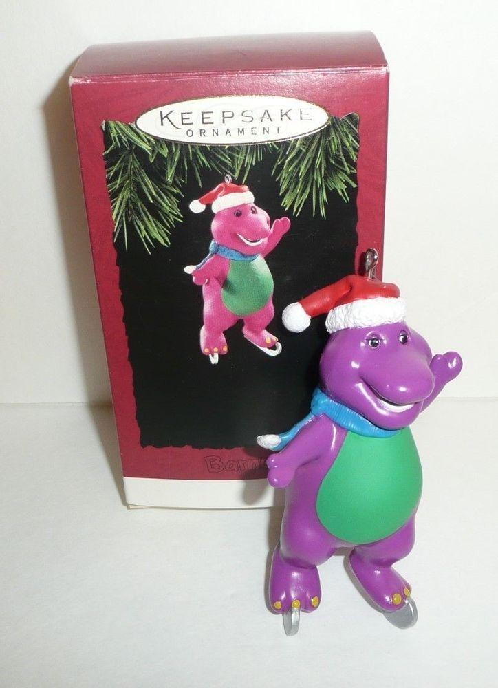 Barney The Purple Dinosaur Hallmark HOLIDAY ORNAMENT - 1994 Skating ...