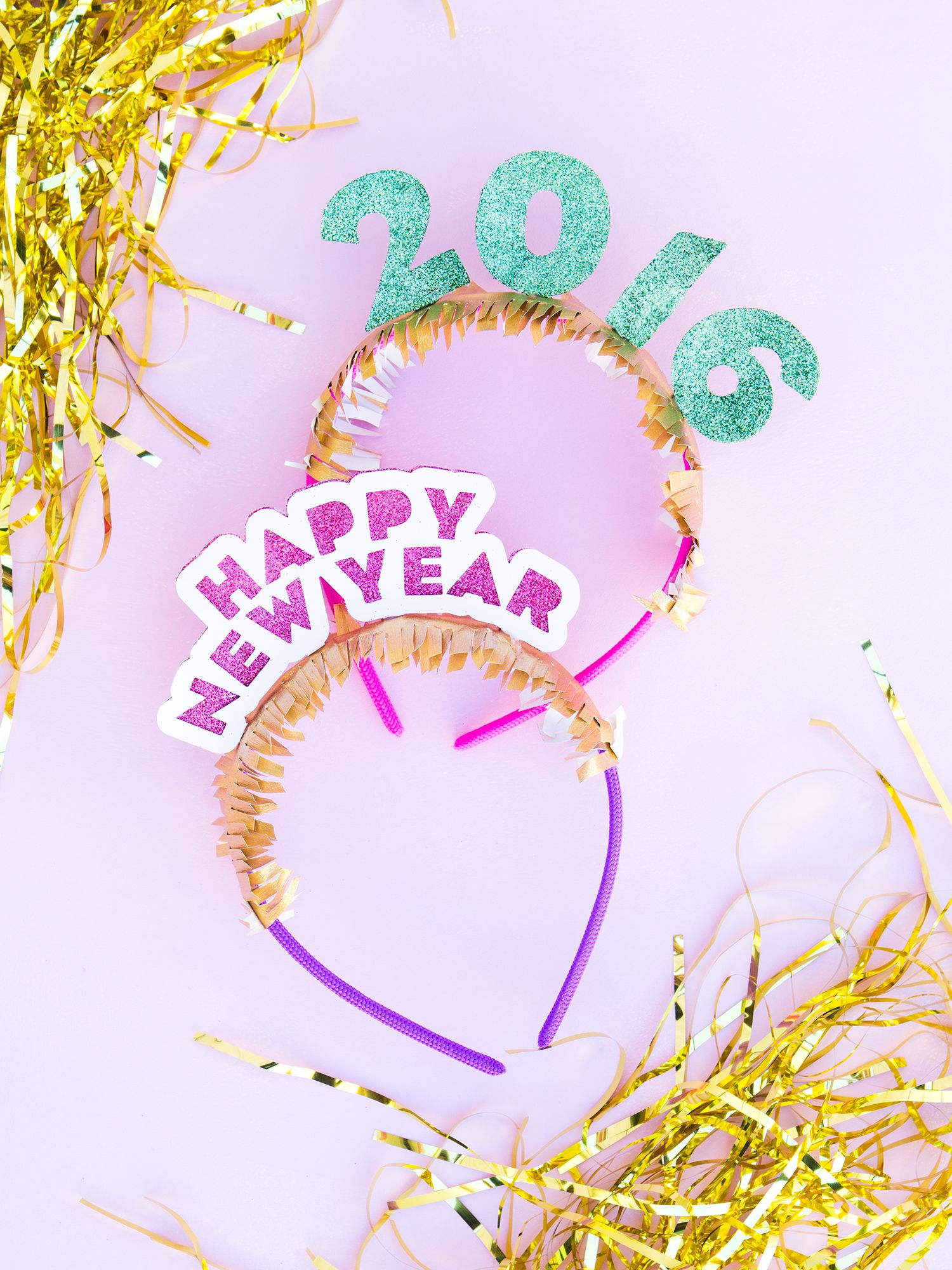 DIY New Year's Eve Headband - Sarah Hearts