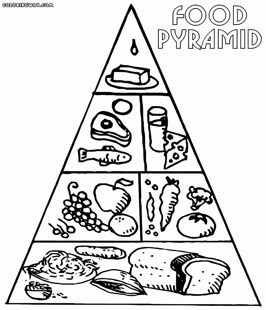 Coloring Pages For Food Unique Coloring Pages Food Guide Pyramid In 2020 Coloring Pages Food Pyramid Food Coloring Pages