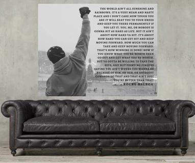 Rocky balboa canvas art print #rockybalboaquotes