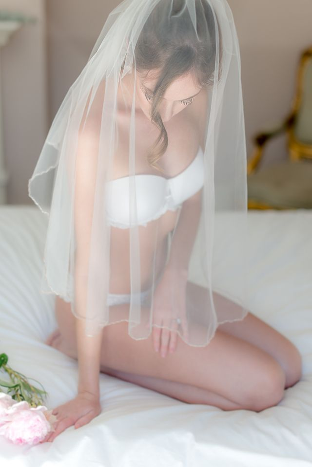 Erotic bridal photography