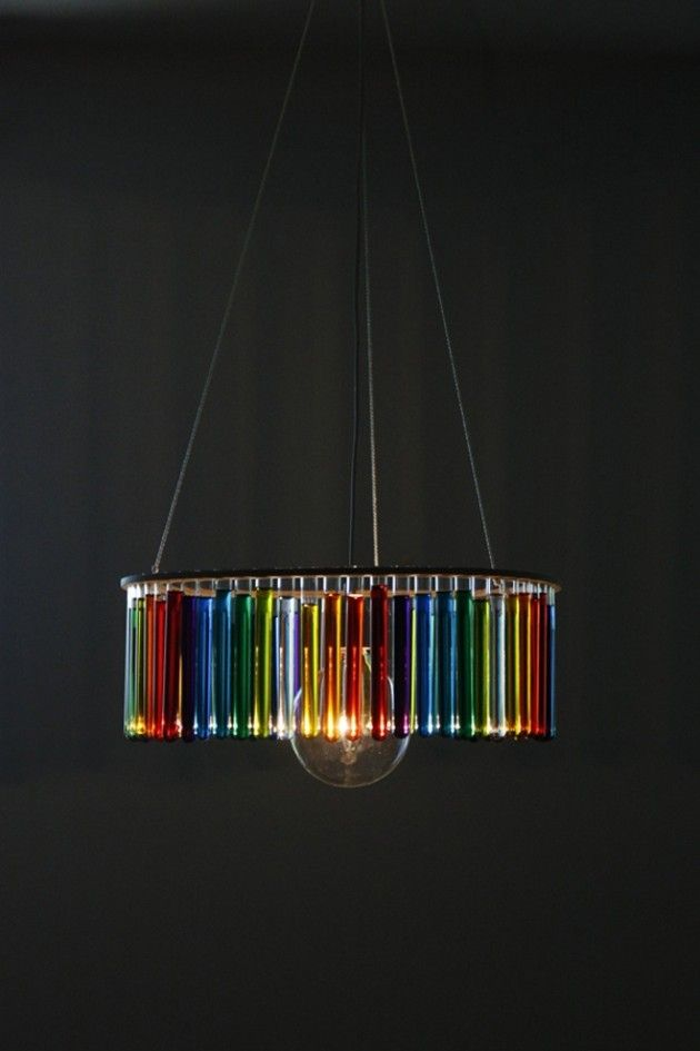 Ceiling Lamp Made By Chemistry Test Tubes Chemistry Bathoom - Ceiling lamp made by chemistry test tubes