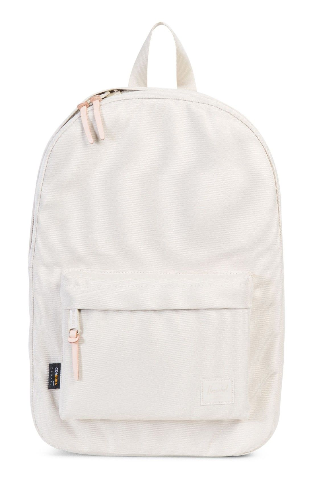 d72c6486ca36 Durable white Backpack with leather trim for a vintage look via Herschel  Supply Co. Love their products! Great for a tech backpack  affiliate link