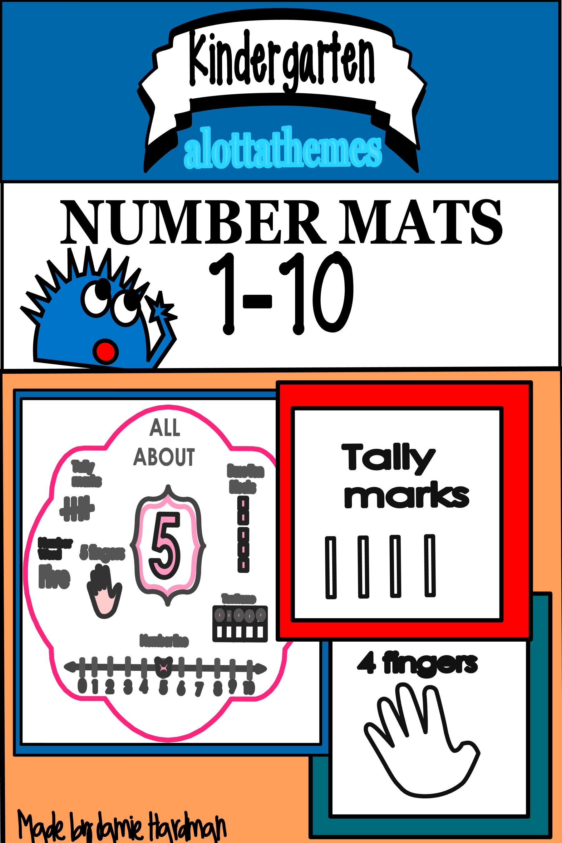 Number Mats Developing Number Sense With Tally Marks Ten