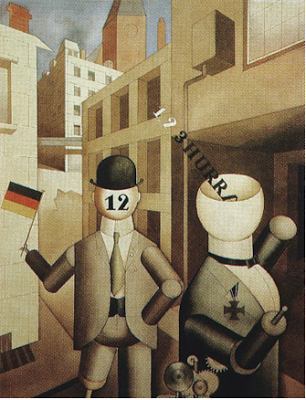 Project #3 Current Events     In Berlin George Grosz accompanied Raoul Hausmann, John Heartfield, Hannah Höch, and Richard Huelsenbeck among many others in their Dada campaign of anarchy and senselessness.