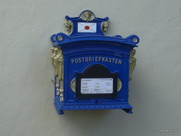 vintage post box in saxony germany