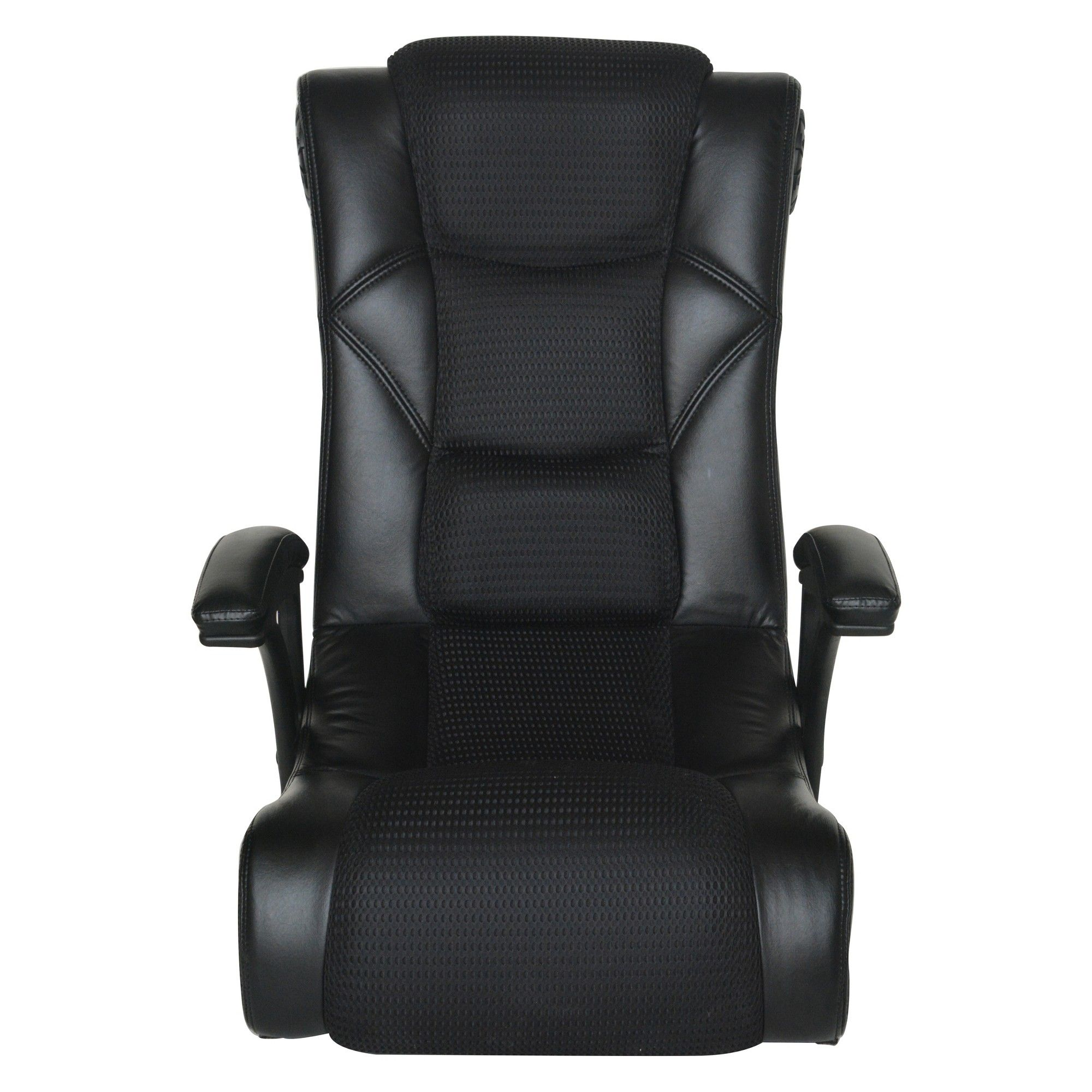 Outstanding 2 0 Bt With Usb Floor Rocker Gaming Chair Black X Rocker Machost Co Dining Chair Design Ideas Machostcouk