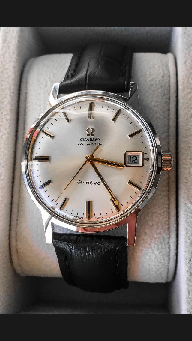 Omega Genève Kal 565 1969 Relojes De Cuero Reloj De Pulsera Hombre Reloj De Pulsera