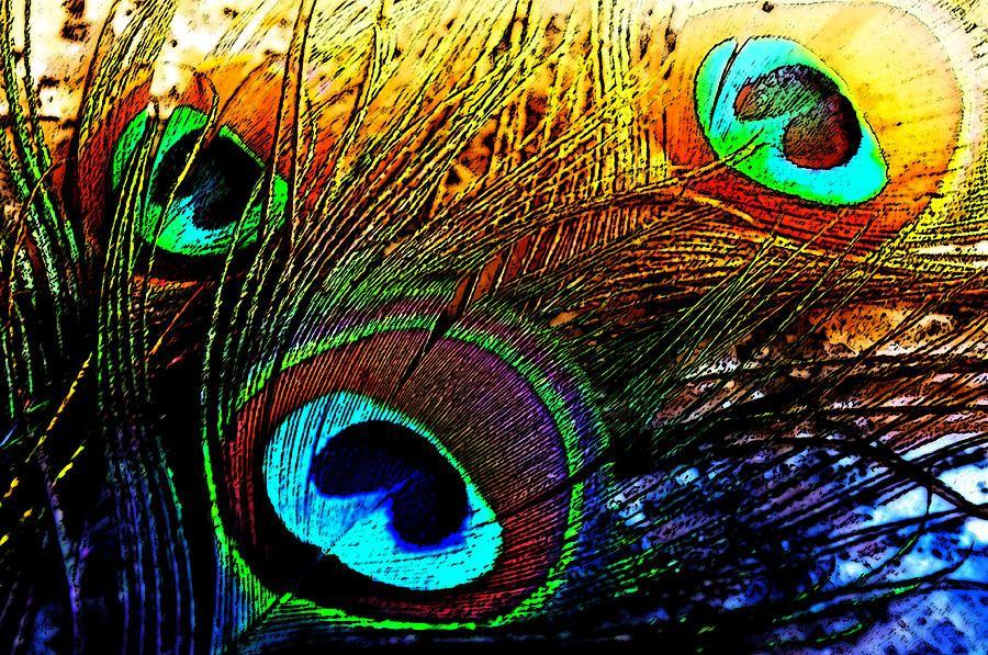 Eastern Fairytale. Peacock Feathers by Jenny Rainbow