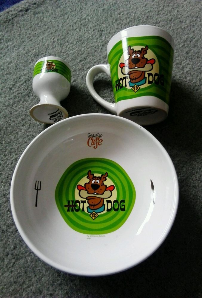 Scooby Doo Cafe Breakfast set inc Mug,Bowl,Egg Cup  | eBay