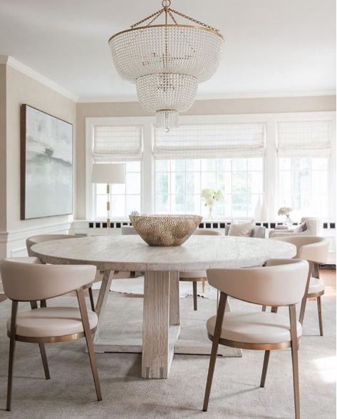 21 Sleek And Modern Metal Kitchen Designs: A Sleek And Chic Dining Chair That Features Ivory