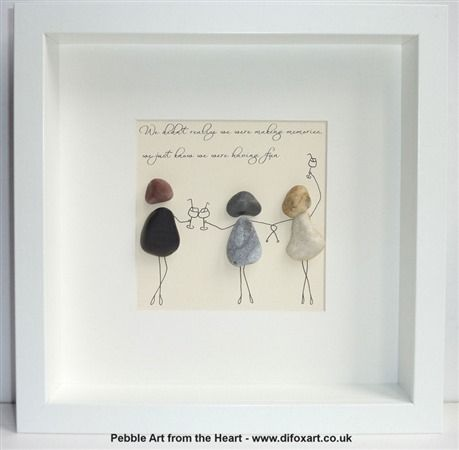 Pebble Pictures Unique Gifts Pebble Art From The Heart Di Fox Artist Pebble Art Pebble Pictures Rock Crafts