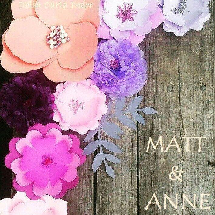 Purple paper flower background purple lavender pea  Paper Flower Backdrop Weddibackdrop