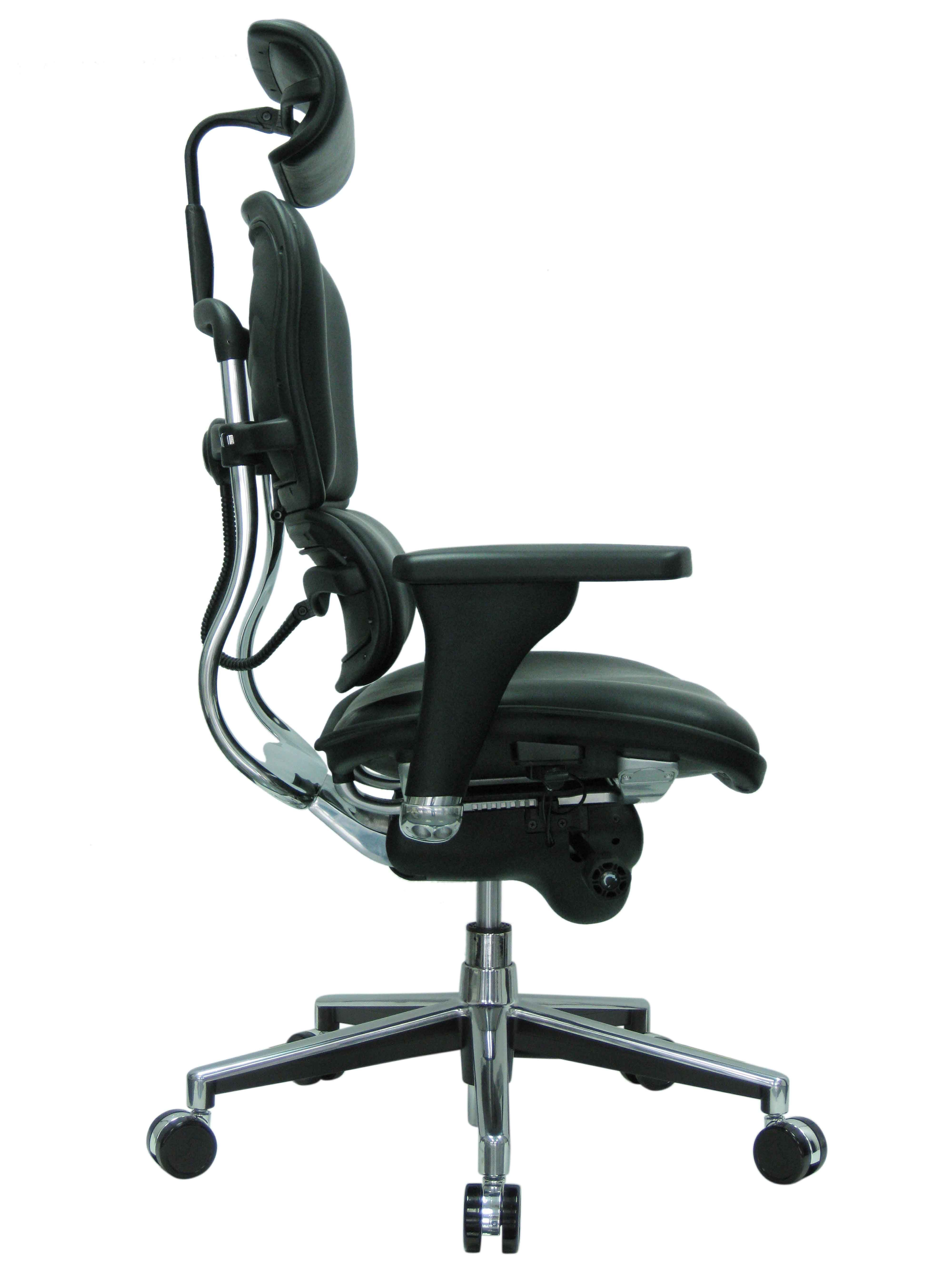 Ergohuman Leather High Back Side View Office Chair Best