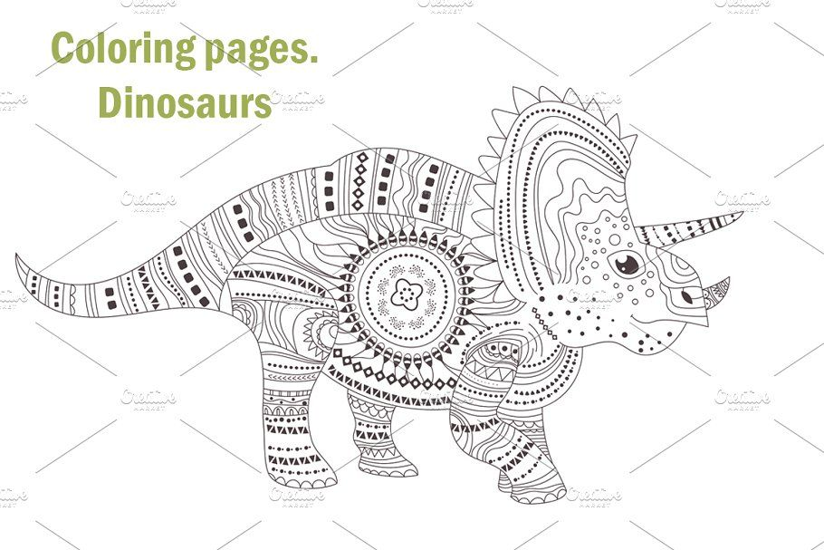 Dinosaurs Coloring Pages Coloring Pages Watercolor Background Color