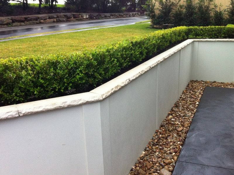 Mortar With Poured Concrete Or Cinder Block And Smooth Stucco Diy Garden Poured Concrete Cinder Block