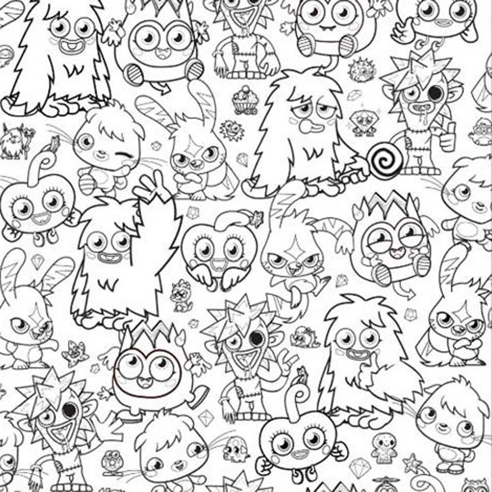 moshi monsters coloring pages # 13