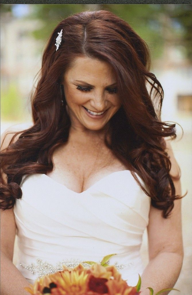 Down Loose Curls Wedding Hairstyles