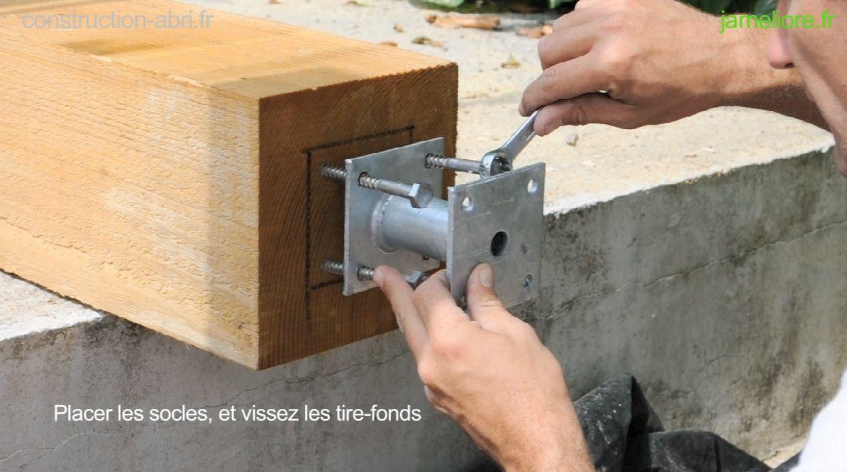 """Poteau Bois Pour Terrasse résultat de recherche d'images pour """"fixation poteau poutre"""