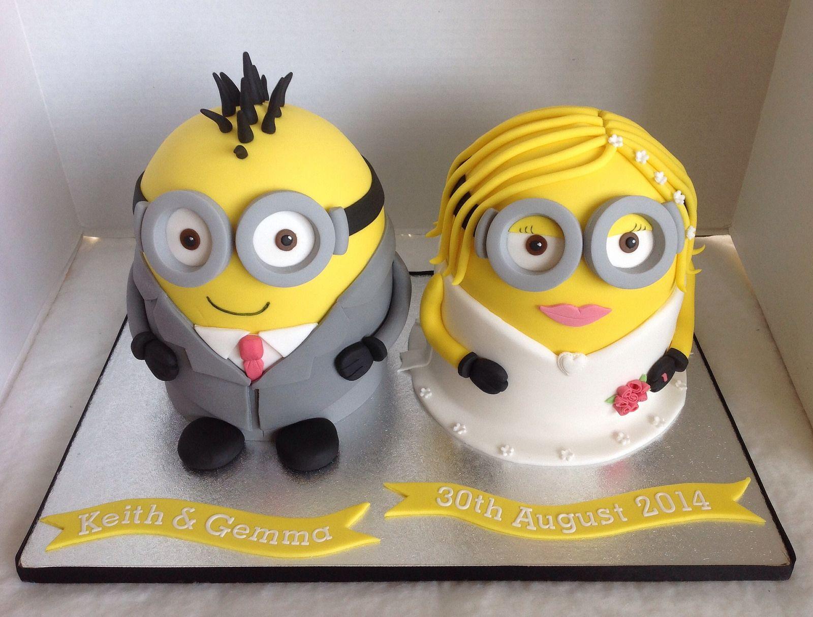 Minion Bride & Groom Wedding Cake | Baked goods | Pinterest ...