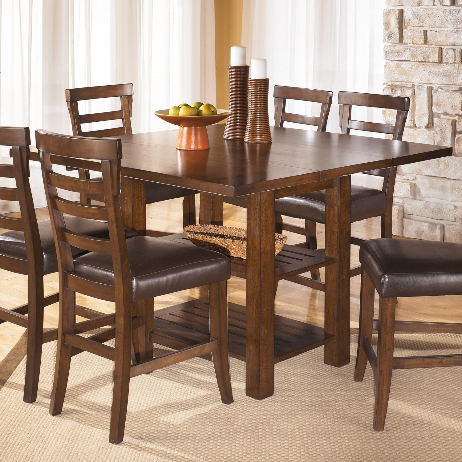 This Handsome Pinderton Counter Height Square Dining Table