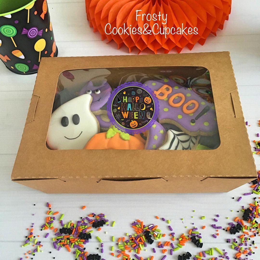 No te quedes sin tus galletitas para este Halloween!! 🕸🎃👻 🌟Opción cajita de 12 galletas . . .