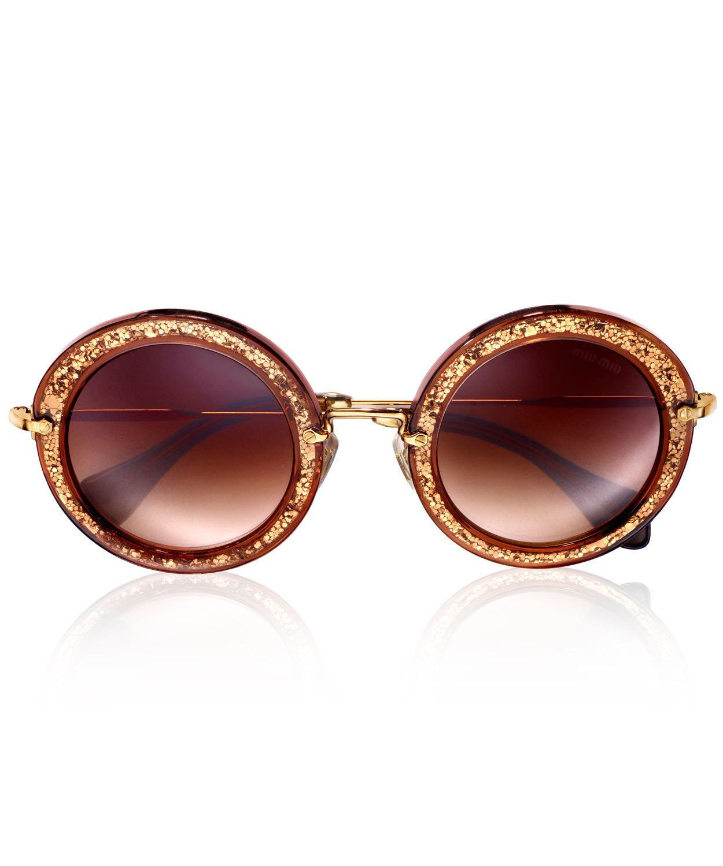 650568c41cec Tobacco Noir Glitter Round Sunglasses