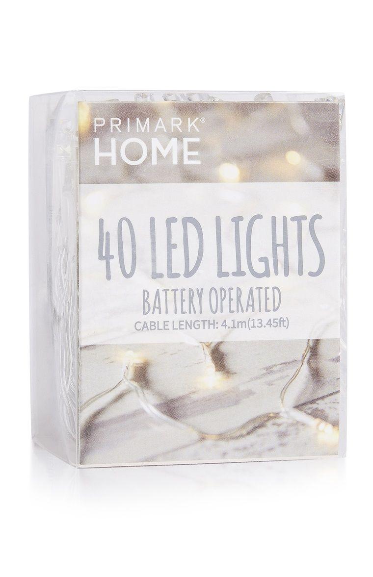 Primark - Pack de 40 luces LED con batería | Primark | Pinterest ...