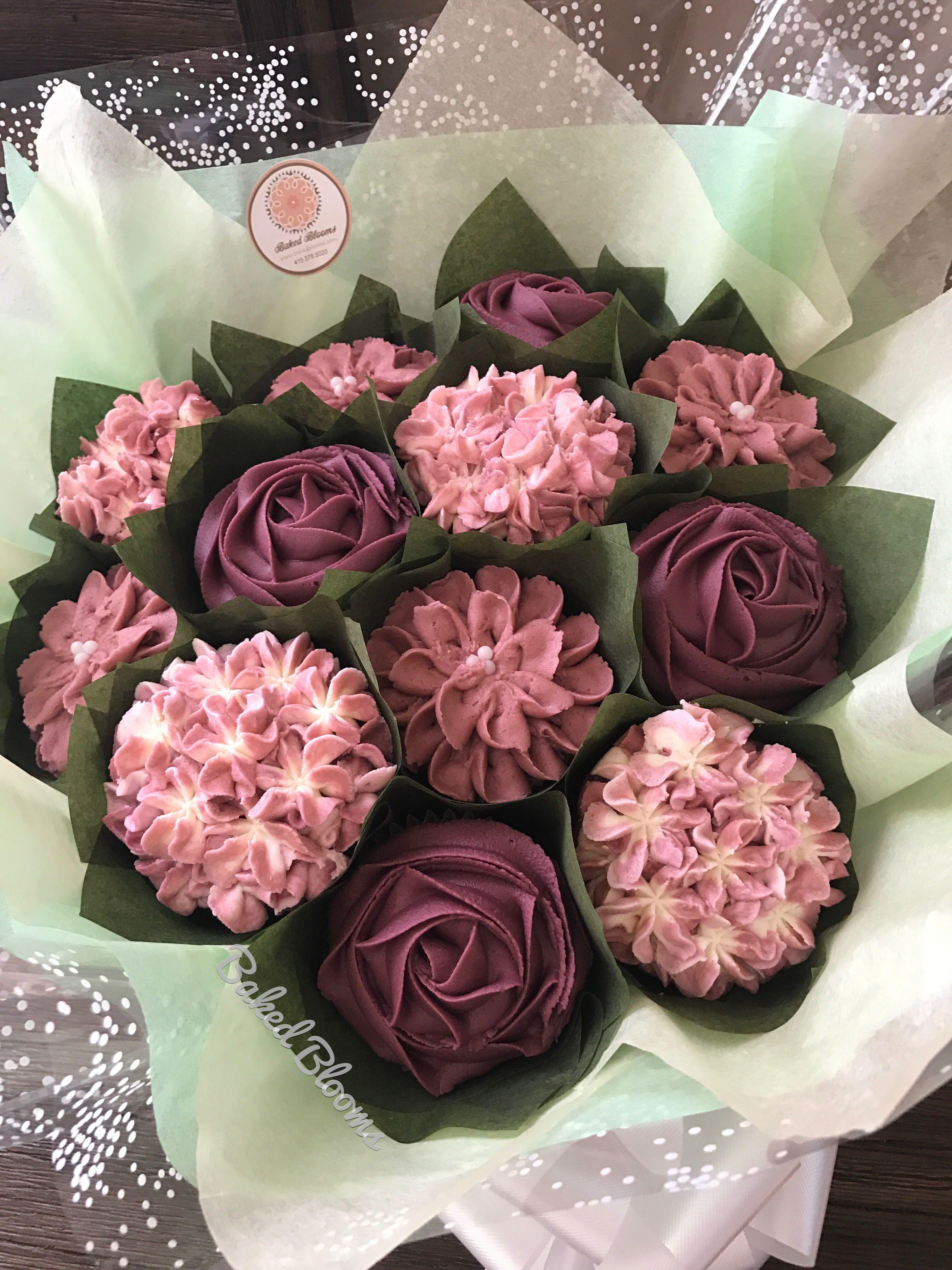 Bouquet with a dozen cupcakes bakedblooms baked blooms bouquet with a dozen cupcakes bakedblooms izmirmasajfo