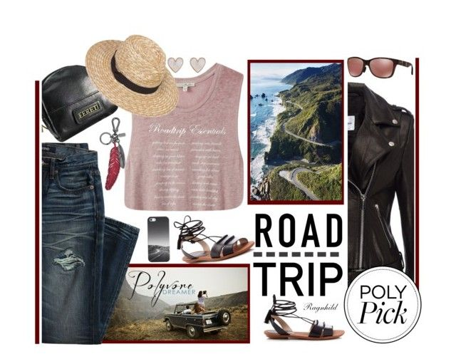 """""""Summer Road Trip"""" by ragnh-mjos ❤ liked on Polyvore featuring French Connection, Canvas by Lands' End, Express, New Look, Maui Jim, Anine Bing and Casetify"""