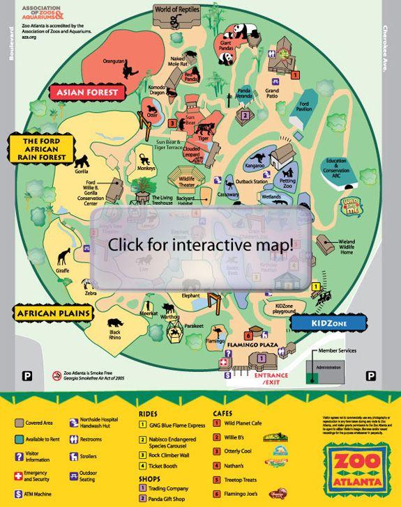 map of atlanta zoo Zoo Atlanta Atlanta Zoo Interactive Map Atlanta map of atlanta zoo