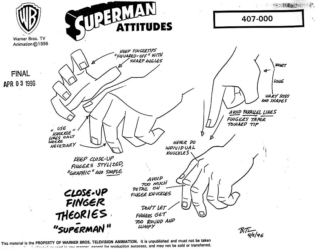 animation model sheets from cartoon concept design