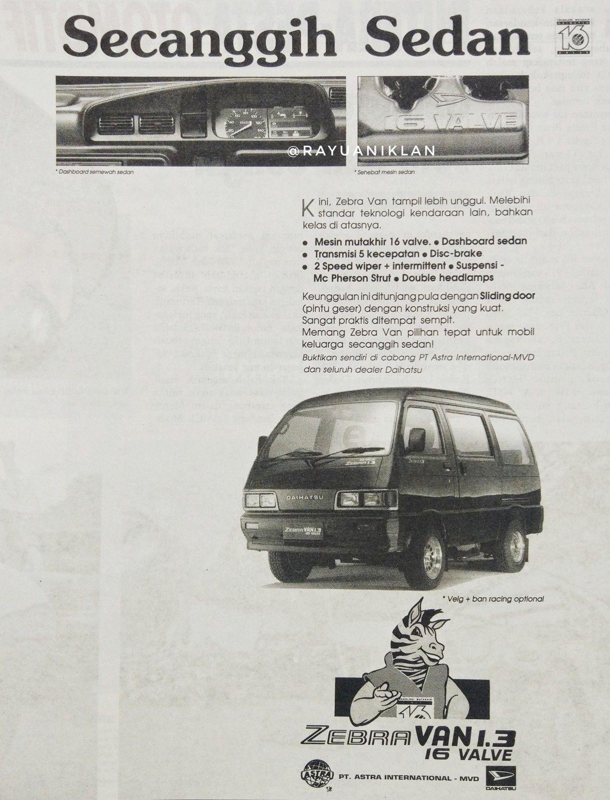 Daihatsu Zebra Rasa Sedan Sedan Zebra Van