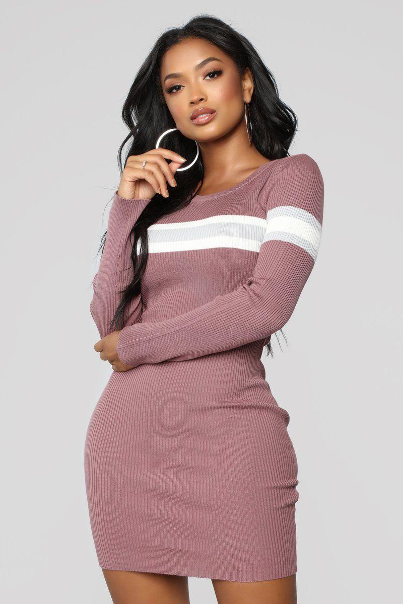12631e2f62 Skylar Sweater Midi Dress - Rose Combo